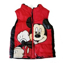 Disney's Mickey Mouse 4T Red Puffer Zip Up Vest EUC - $17.56