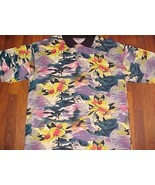 Surfer Surfing Waves Hawaiian Green Yellow Black Floral M.E. Sport Polo ... - $123.75
