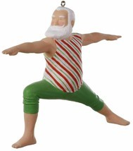 Hallmark  Festively Flexible  Santa Exercising  Keepsake Ornament 2019 - $17.81