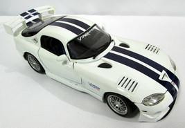 Maisto 1:18 Chrysler Dodge Viper GTSR Car White Blue Stripes (No Box) - $13.85