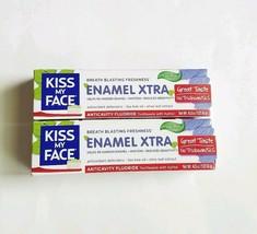 Lot of 2 Kiss My Face Toothpaste Enamel Xtra Cool Mint Gel 4.5oz Vegan F... - $19.80