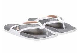 Adidas Women's White Grey Adilette CF+ Summer Sandals Flip Flop Thongs S81199
