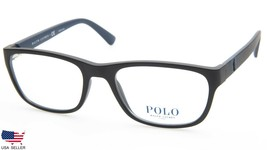 New Polo Ralph Lauren Ph 2153 5284 Matte Black Eyeglasses Frame 53-18-145 B36mm - $89.09