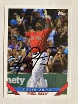 David Ortiz Autographed 2019 Topps Card, #285, Beautiful Rare Signature!! - $95.00