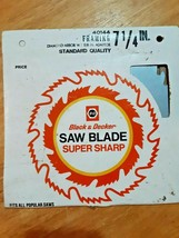 "Black & Decker Circular Saw Blade Framing 7 1/4"", Diamond Arbor Hole onl... - $8.90"