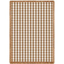 Houndstooth Tan - 69 x 48 Blanket/Throw - $48.95