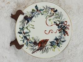 """Lenox WINTER GREETINGS Dinner Plate 10 7/8"""" CARDINAL CHICKADEE BIRD WITH... - $33.66"""