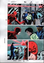 Original 1992 Daredevil 302 page 22 Marvel Comics color guide comic art:... - $99.50
