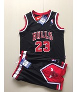 youth bulls #23 jordan jersey basketball suit black.jpg - $44.66