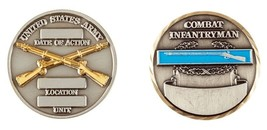 Army Date Of Action Combat Infantryman Cib Badge Military Challenge Coin - $18.04