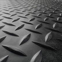 Rubber Flooring For Home Gym Garage Floor Protector 10 Feet Black Rubber... - $136.99