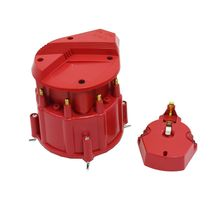 HEI Distributor 8CYL Tune-Up Kit 65k Volt Ignition Coil Red Super Male Cap image 6