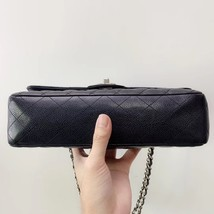 BRAND NEW AUTH Chanel Medium Black Caviar Classic Double Flap Bag SHW image 2