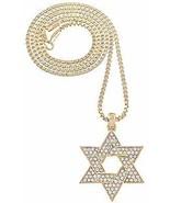 Estrella de David Collar Nuevo Cristal Pedrería Colgante 61cm Caja Enlac... - $11.98