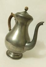 Vintage Daalderop Royal Holland Pewter Coffee Pot Kettle Wood Handle - $31.19