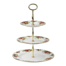 Royal Albert Old Country Roses 3-Tier Cake Stand Fine Bone China NEW IN ... - $121.54