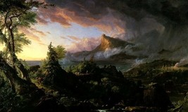 The Course Of Empire The Savage State 1834 Painting By Thomas Cole Repro - $10.96+