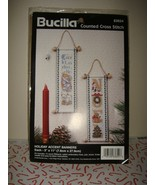 Bucilla Christmas Holiday Accent Banners Cross Stitch Kit - $14.49