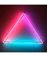 New Equilateral Triangle Neon Sign Acrylic Aesthetics Glass Light Gift 2... - $168.29