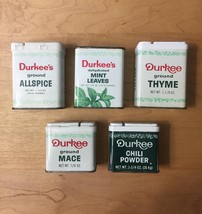 Vintage Durkee's Spice Tins Packaging image 4