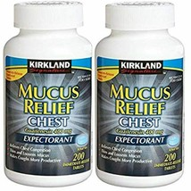 Kirkland Mucus Relief Guaifenesin 400 Mg Expectorant | 200 Tablets |2 bo... - $22.45