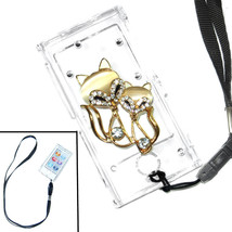 Bling Couple Fox Foxes Crystal Hard case for ipod Nano 7th Gen 7G + Strap - $7.83