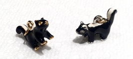 Joan Rivers Noah's Ark Skunk Charms Pair Set Black White Enamel Extender... - $50.00