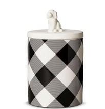 ADAM LIPPES x Target 'Black & White Plaid' Ceramic Dog Treat Canister Ja... - $39.59