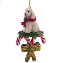 Conversation Concepts Poodle White W/Sport Cut Candy Cane Ornament - $15.99