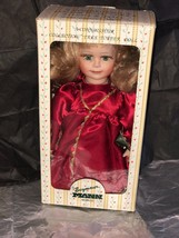 New In Box Seymour Mann A Connoisseur Porcelain 15 Inch Doll Strawberry Blonde - $40.00