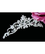 Floral Bridal Comb with Sparkling Crystals Bridal Hair Comb Hair Accesso... - $18.71