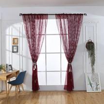 Curtain Christmas Snowflake Tulle Door Window Curtain Drape Panel Sheer ... - $12.80