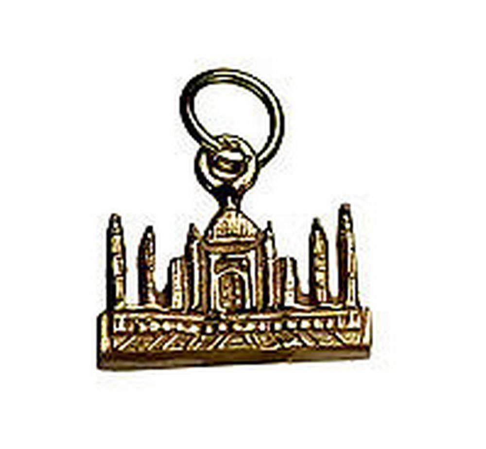 NICE 24K Gold Pltd TAJ MAHAL INDIA travel Vacation charm souvenir wonder of the