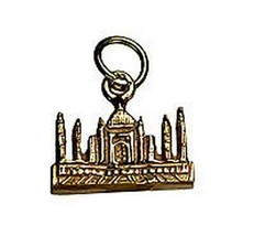 NICE 24K Gold Pltd TAJ MAHAL INDIA travel Vacation charm souvenir wonder... - $28.65