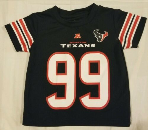 Primary image for Houston Texans JJ Watt Toddler Youth 2T Football Jersey NFL Team Apparel Blue 99