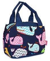 N Gil Nautical Navy Blue Summer Whales Insulated Lunch Bag by NGIL - $16.82