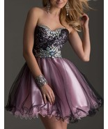 Luxury Beaded Sequin Crystal Short Homecoming Dress Sexy Girls Cocktail ... - $138.33