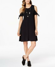 Style & Co. Women's NEW Pullover Cold-Shoulder Swing Dress Deep Black Si... - $29.69