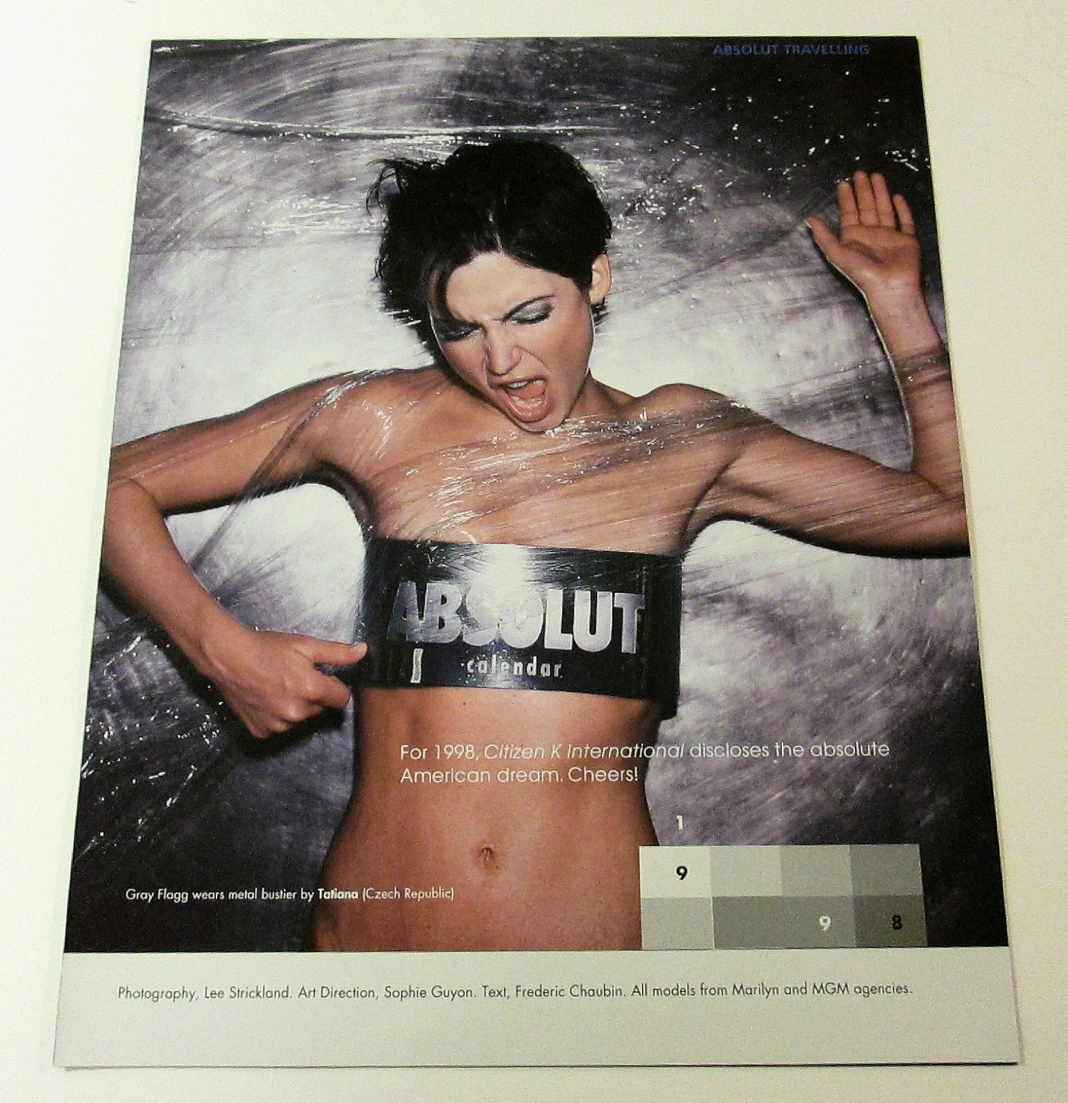 Primary image for ABSOLUT TRAVELLING 1998 Fashion Calendar Ad Citizen K Magazine Supplement 13pp