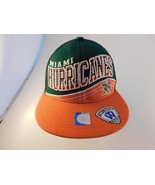 Miami Hurricanes Hat Snapback Spell Out Top of The World NEW w/o TAG Woo... - $18.80