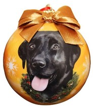 Black Lab Christmas Ornament Shatter Proof Ball Easy To Personalize A Pe... - $10.87