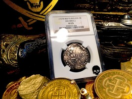 "BOLIVIA POTOSI 2 REALES 1574-86 NGC-25 ""FIRST YEAR ISSUE for Mint!"" RARE... - $995.00"