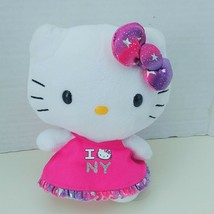 "Ty Sanrio HELLO KITTY I Love NY New York Plush Stuffed Toy 6"" 2012 Pink ... - $12.59"