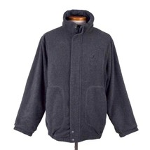 Nautica Reversible Slate Blue & Gray Fleece Commuter Jacket Field Coat M... - $34.64
