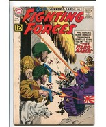 OUR FIGHTING FORCES #73-1963-DC-WWII-POOCH-GUNNER & SARGE-TANK BATTLE-vf - $74.50