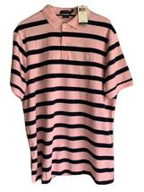RALPH LAUREN Mens Sz L Polo Shirt Pink blue Stripe Classic Fit Short Sle... - $75.00