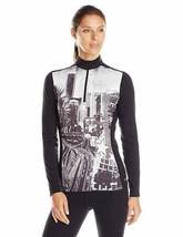 Medium 8-10 Hot Chillys Women's MEC Sub Print Shirt 1/2 Zip Base Layer Top