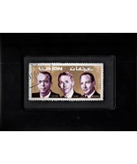 Framed Stamp Art - Collectible Postage Stamp The Apollo 14 Astronauts - $8.99