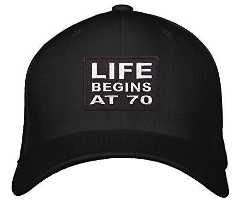 Life Begins At 70 Hat - Great Gift for Seniors Mom Dad Grandma Grandpa 70th Birt