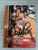 Scottie Pippen Hand Signed Autographed 1995-96 Basketball Card Upper Dec... - $55.95